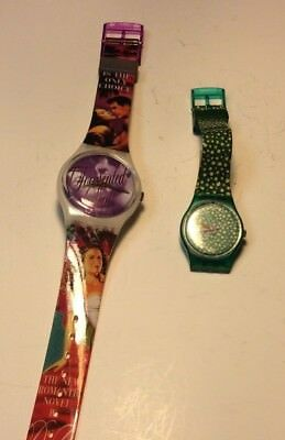 Lot of 2 Swatch watches, Gone With The Wind and small womens model          T546