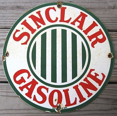 Sinclair Gasoline Porcelain Enamel Gas Pump Oil Service Station Metal Sign