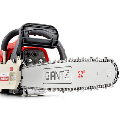 "Giantz 22"" Bar Commercial Petrol Chainsaw E-Start Saw Tree Pruning Tool Set 62CC"