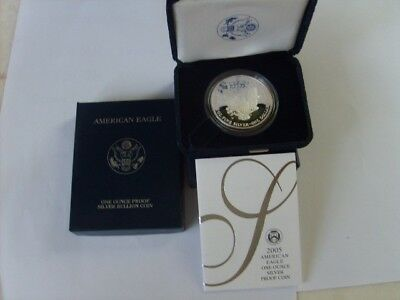 2005 proof silver dollar with COA
