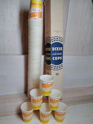 100 Vintage Hires Root Beer 4oz Dixie Cup Rare Free Sample Wax Paper Full Row
