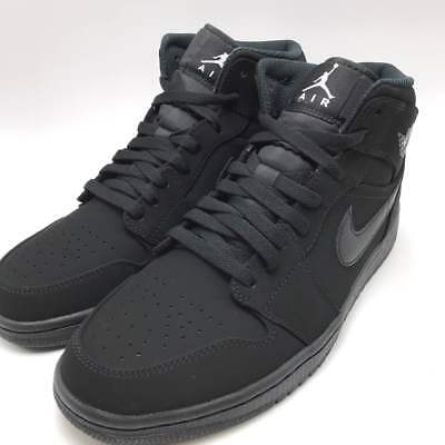 best service 4175f 6b8c2 Nike Air Jordan 1 Mid Black White-Black Men s Basketball Shoes 554724-040