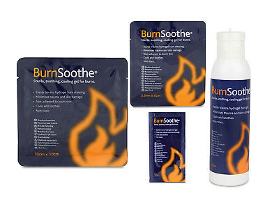BURNSOOTHE Burn Dressings Gel Sterile Non Toxic Emergency Kitchen First Aid