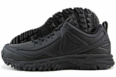 498c3712ce4 Reebok Ridgerider Leather Men s Athletic Comfort Shoes Black CN0954 SS