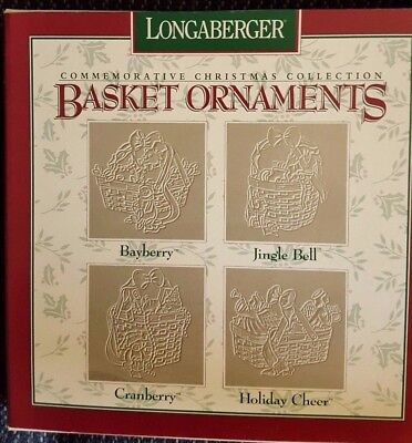Longaberger Pewter Basket Christmas Ornaments  *1997* Never Opened*** Perfect