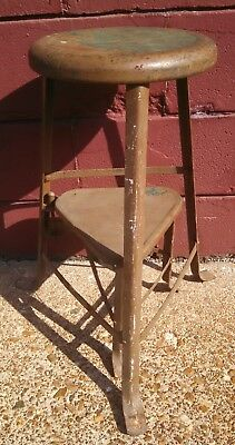 Vintage Farm House Stool With Swing Out Step