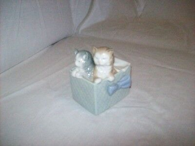 NAO by Lladro Two Kittens in Box Figurine