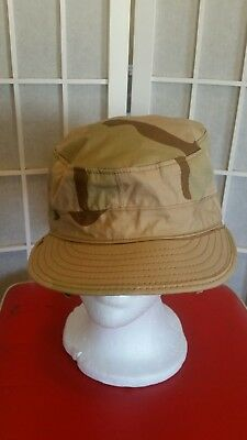 Military Camouflage Desert Class 2 Cap/Hat Ear Flaps 7 1/8
