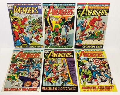 Avengers #95,96,97,98,99,100 KEY High Grade LOT/RUN! (Neal Adams!) Marvel Comics