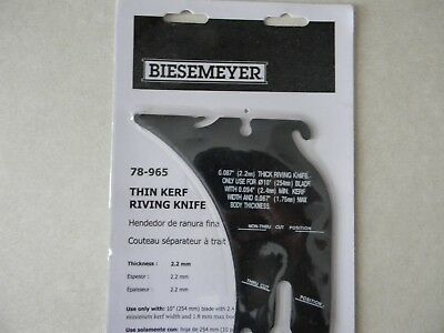 Delta 78-965, Biesemeyer thin kerf riving knife, New Unisaw only