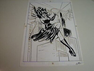 Catwoman - 1978 DC Super Hero Poster Book production art