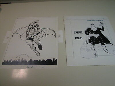 Superman - 1977 Parade Magazine & Special #9 production art
