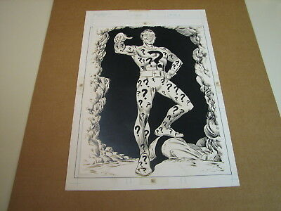 The Riddler - 1978 DC Super Hero Poster Book production art