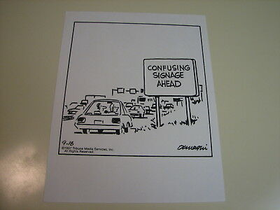 Ralph Dunagin Editorial Cartoon - Sep 18, 1997 Original Art - Confusing Signage