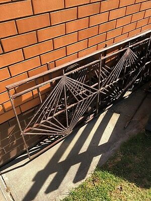 3x Long Retro wrought iron balustrades. Wall Art very Heavy still