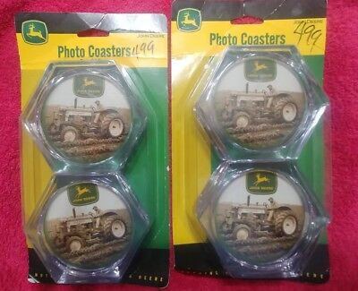 John Deere Photo Coasters 8 in all NEW IN BOX
