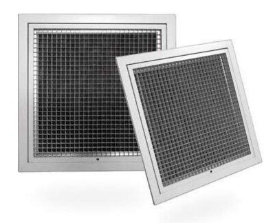 Hinged Eggcrate Grille With Filter  FACE:950 x 600mm, Neck 900 x  550