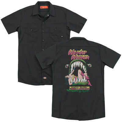 Wonder Woman Comic Cover JAWS OF THE LEVIATHAN Dickies Work Shirt All Sizes