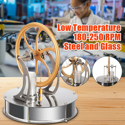 Hot Air Stirling Engine Model Steam Powered Educational Toy Physics Experiment