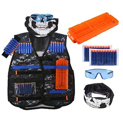 Hot Sale Tactical Vest Kit Adjustable Jacket for Nerf N-strike Elite Series Toy