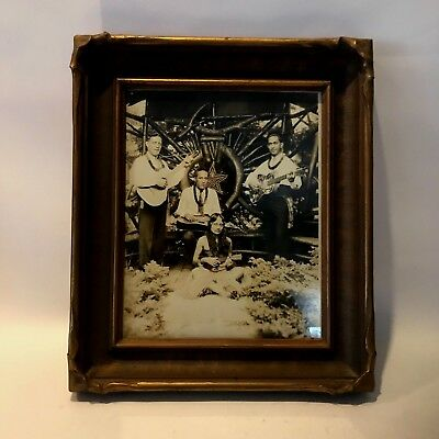 Vintage Hawaiian Band With Hula Girl Playing A Ukelele Photo In Vintage Frame