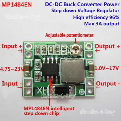 Mini 3A DC-DC Buck 5v-18v To 3.3V 5V 9V 12V Step-Down voltage Converter Module