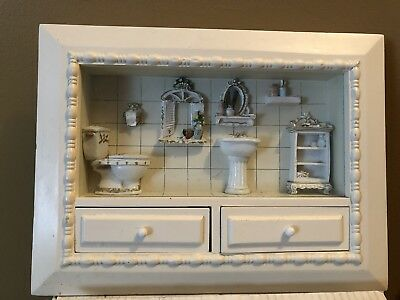 Bathroom Shadow Box With Two Drawers That Open And Removable Sliding Gl Panel