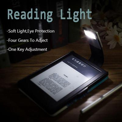 Magnetic USB Rechargeable LED Book Light Flexible Clip On Night Reading Lamp