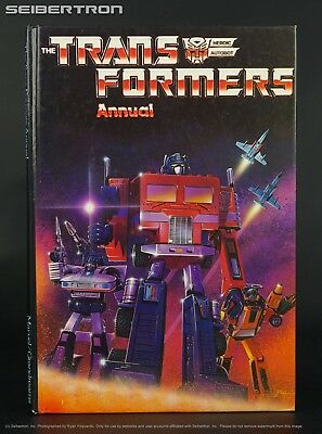 Marvel Transformers UK 1985 Annual HC Comic G1 vtg Optimus Prime + Insecticons