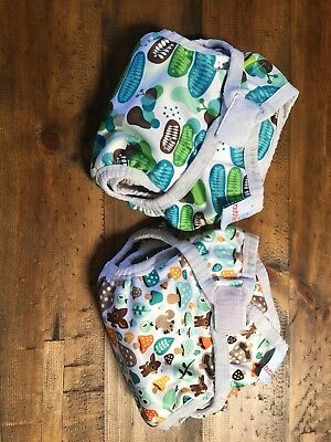 Bubble Bubs 2x Bamboo Delights & 2x Medium Covers