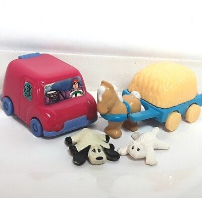 Pound Puppies puppy figure Purries cat toy doll Playset car horse Vintage 1990s