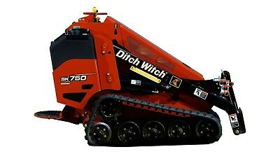 Mini Skid Steer Ditch Witch SK750 Walk behind (Toro Dingo Vermeer Boxer Tach)