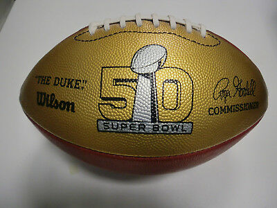 NFL Super Bowl Football Gold Wilson Official - Limited Edition RAR - Full Size