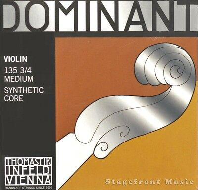 Thomastik Infeld 135 Dominant Violin Strings Medium Complete Set 3/4 Size