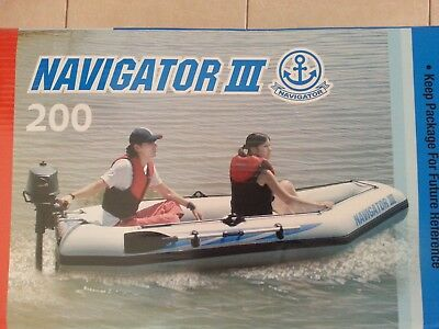 navigator 200 inflatable boat fishing dinghy yacht tender raft oars + pump inc
