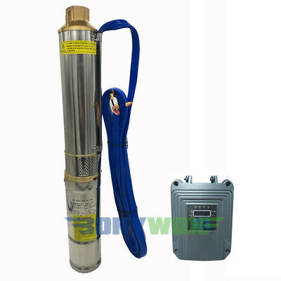 DC 48V Solar Brushless Deep Well Submersible Pump 750W Centrifugal Water Pump