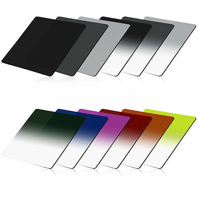 Graduated Blue Orange Red Green Yellow Purple + ND Filter Set for Cokin P LF142