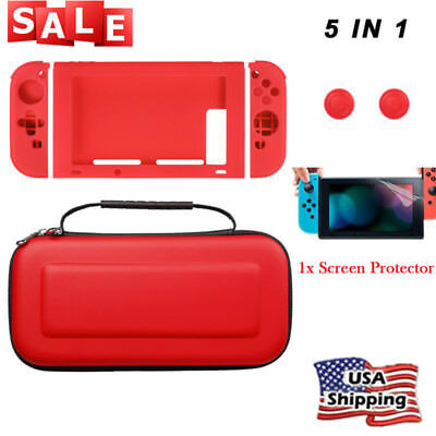Case For Nintendo Switch Handle Travel Carrying Bag+TPU Shell+Screen Protector