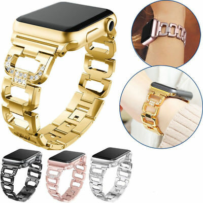Stainless Steel Metal Watch Link Band Strap For Apple Watch 5432 38/40/42/44mm