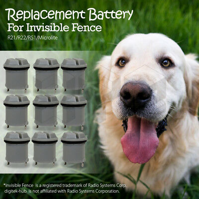 1-10 PC Replacement Battery for invisible Fence Dog Collar R21/R22/R51/Microlite