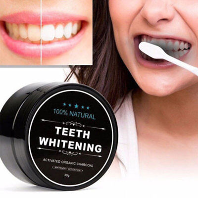 Bamboo Charcoal Powder Activated Carbon Teeth Care Whitening Cleaning 30g