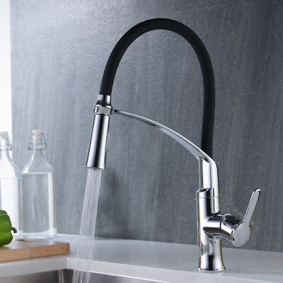 CREA Pull Down Kitchen Sink Faucet Tap with 2 Function Sprayer, Stainless steel