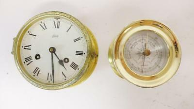 Vintage Schatz Ship Clock and Franklin Barometer