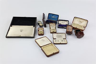 Lot of Vintage / Antique Jewellery Boxes inc Ring , Necklace , Watch etc 434g