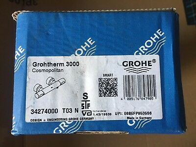 GROHE Thermostat Brausebatterie Grohtherm 3000 C 34274