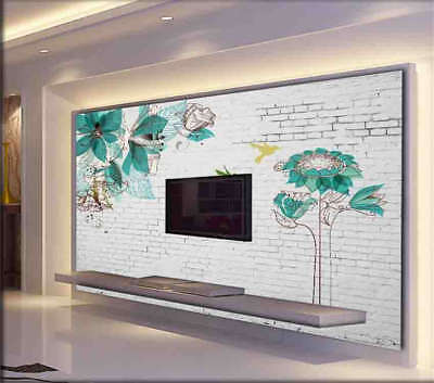 Birds and Flowers 3D Full Wall Mural Photo Wallpaper Printing Home Kids Decor