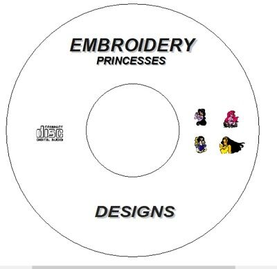 New Disney Princess Princesses Embroidery Designs On  Cd / Dvd Brother Pes