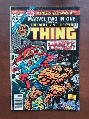Marvel Two-In-One Annual #1 (1976) 3.0 GD Marvel Key Issue Comic Book Bronze Age