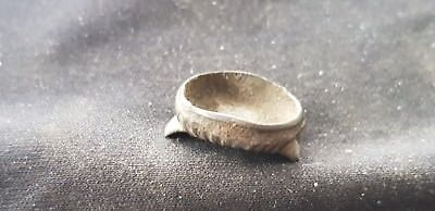 Superb Roman bronze ring part in uncleaned condition L91m