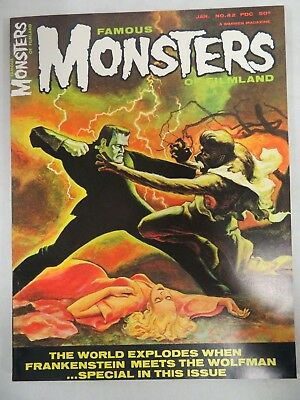Famous Monsters of Filmland #42 (1966) Frankenstein Vs Wolfman VF/NM 9-9.2 CH304